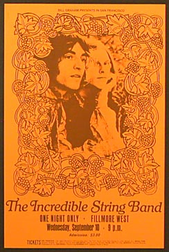Incredible String Band,Fillmore West,Sept. 10 1969